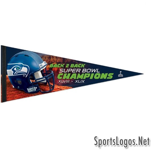 Seattle Seahawks Super Bowl XLIX Phantom Champions Pennant