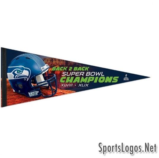 Seattle Seahawks Super Bowl XLIX Phantom Champions Pennant