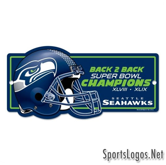 Seattle Seahawks Super Bowl XLIX Phantom Champions Sign 2