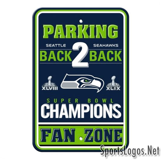Seattle Seahawks Super Bowl XLIX Phantom Champions Sign 3