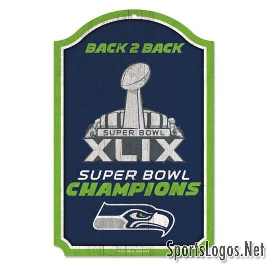 Seattle Seahawks Super Bowl XLIX Phantom Champions Sign