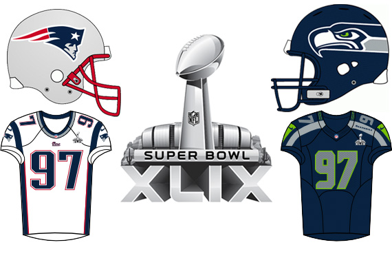 Super Bowl XLIX Uniforms Stat Sheet  85e0cf948