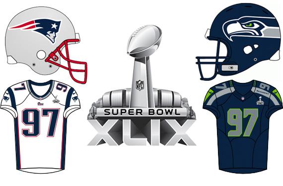 Super Bowl XLIX Uniforms Stat Sheet