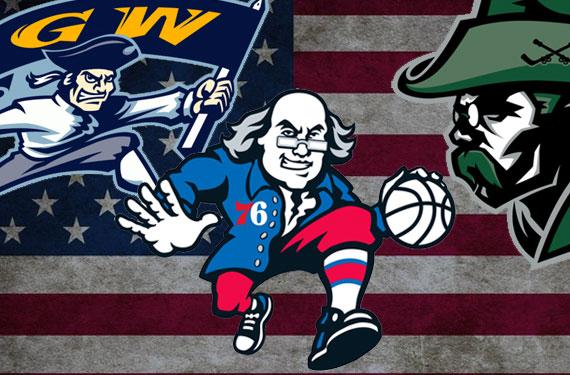 U.S. Historical Figures on Sports Logos