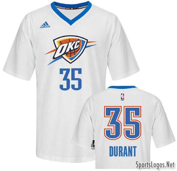 394243607 OKC Thunder Unveil New Sleeved Alternate Jersey