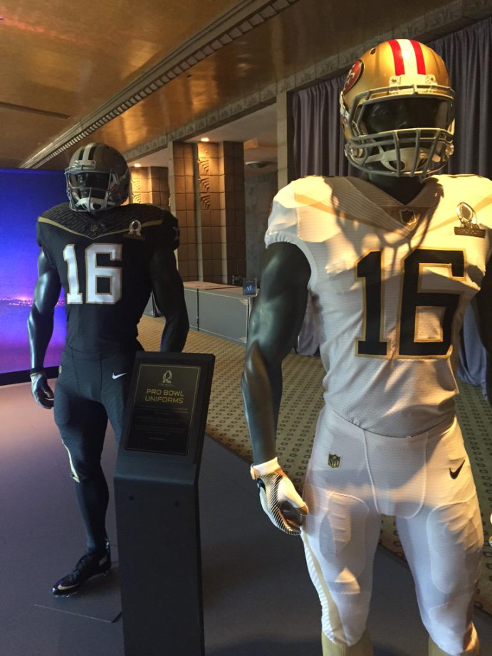 NFL goes black-and-gold for 2016 Pro Bowl uniforms – SportsLogos ...