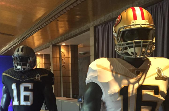 9e16b922c NFL goes black-and-gold for 2016 Pro Bowl uniforms