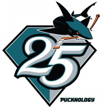new photos c040c 88179 San Jose Sharks 25th Anniversary Logo | Chris Creamer's ...
