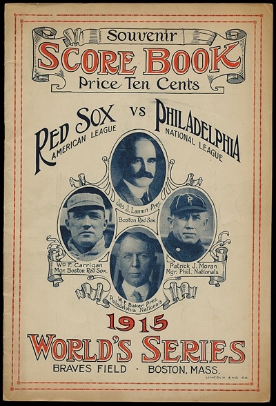 1915 World Series Program - Red Sox version