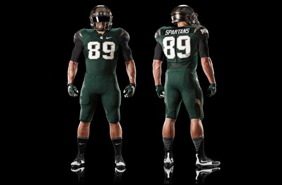 Michigan State adds bronze-helmeted alternate uniform to uniform set