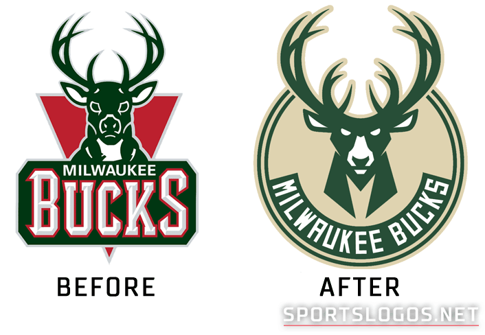 634454022 Milwaukee Bucks Logo Before and After