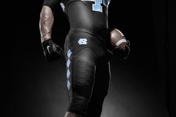 New UNC Tar Heels Black Football Uniforms