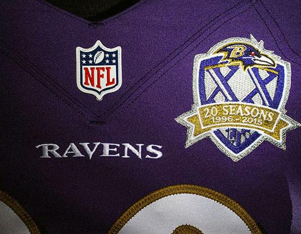 Baltimore Ravens Unveil 20th Season Patch – SportsLogos.Net News