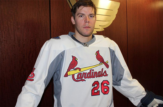 St. Louis Blues to Welcome Baseball Back with Cards Jerseys
