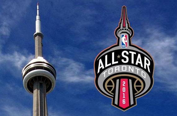 2016 NBA All-Star Game Logo Toronto CN Tower Raptors