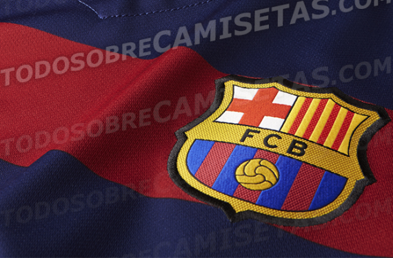 452f49856 New FC Barcelona 2015 16 home shirt will have horizontal stripes ...