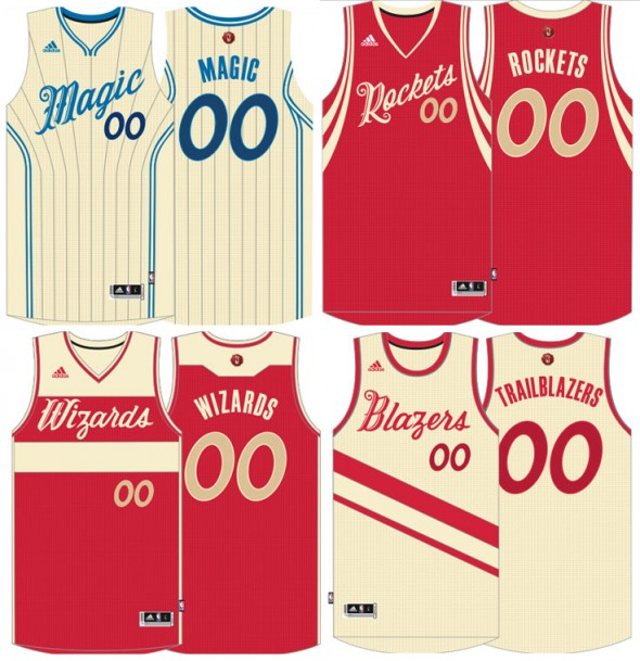 Magic Rockets Wizards Blazers Christmas Uniforms 2015