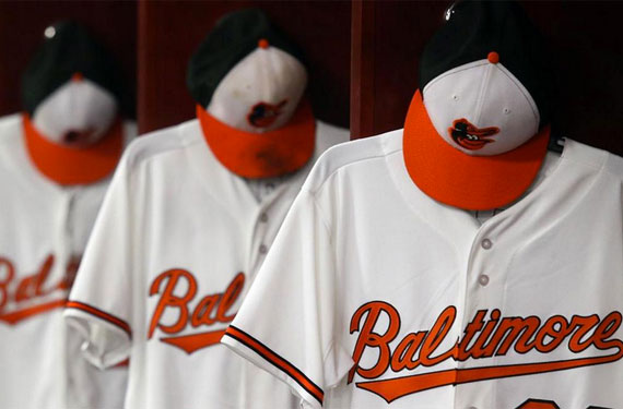 Orioles wear special Baltimore jersey in first game back home