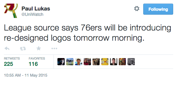 New 76ers Logo Coming