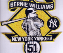 New York Yankees Bernie Williams Patch 2015