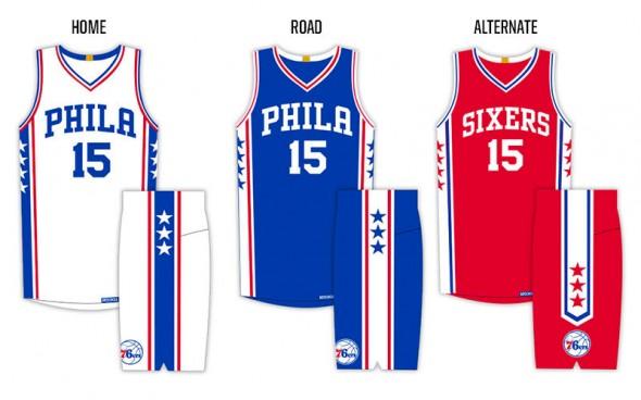 New Sixers Uniforms Graphic