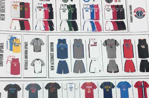 2015-2016 NBA new uniforms leaked 0
