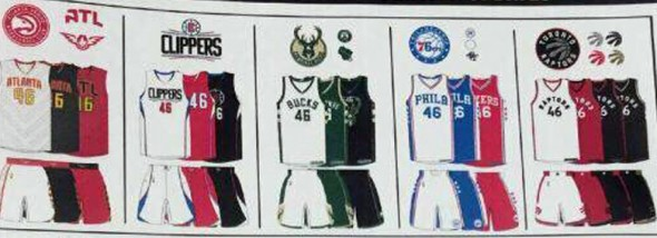 2015-2016 NBA new uniforms leaked 1