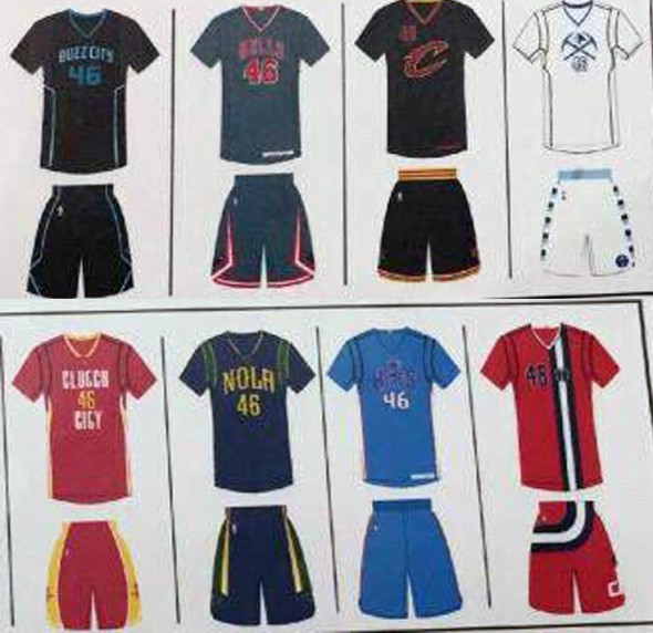 2015-2016 NBA new uniforms leaked 3