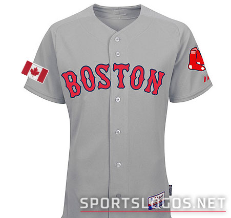 Boston Red Sox Canadian Flag Jersey 2015