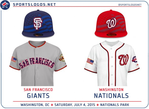 f8a45925e60 MLB Fourth of July Stars and Stripes Uniform Matchups