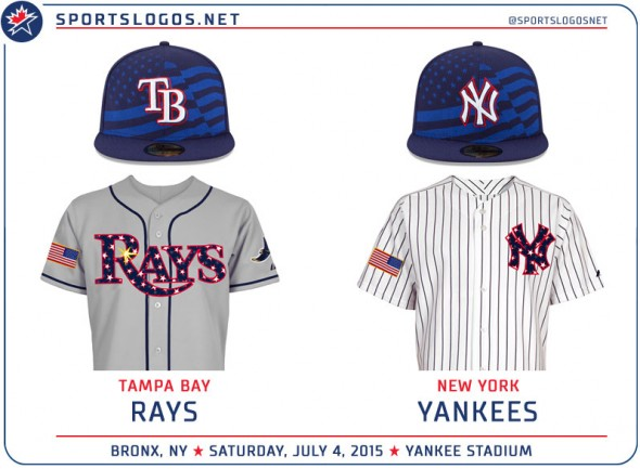 MLB Fourth of July Stars and Stripes Uniform Matchups  1d380859128c