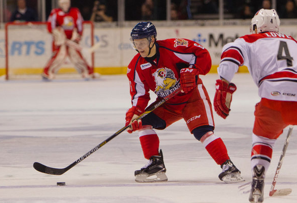 The Griffins wearing their new logo on an alternate jersey (pic: MLive.com)