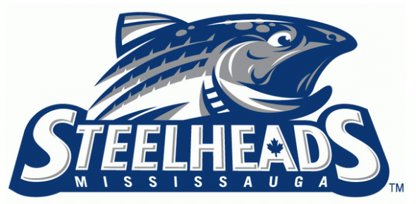 The old Mississauga Steelheads logo, replaced by a roundel for 2015-16