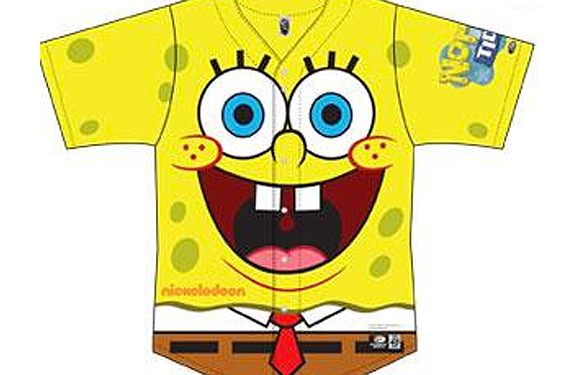 Norfolk Tides Wearing SpongeBob Jerseys August 7th