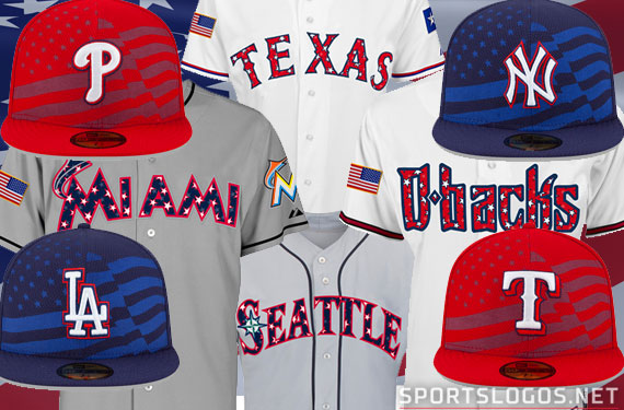 e2115613d MLB Fourth of July Stars and Stripes Uniform Matchups