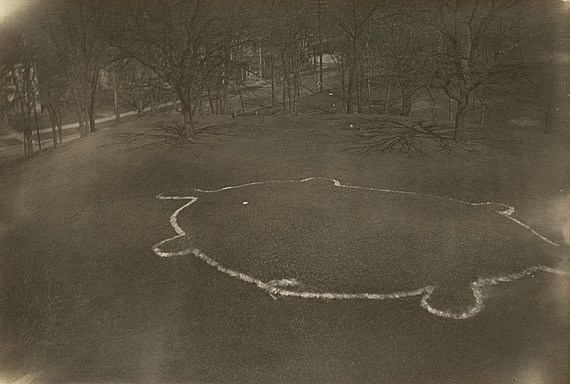A 1919 photo from the Logan Museum of Anthropology a Beloit College shows the turtle mound.