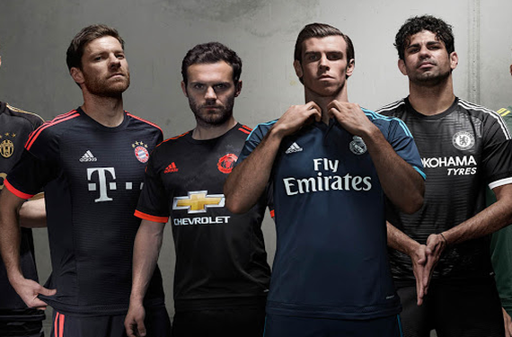 Adidas rolls out third kits for six European powerhouses