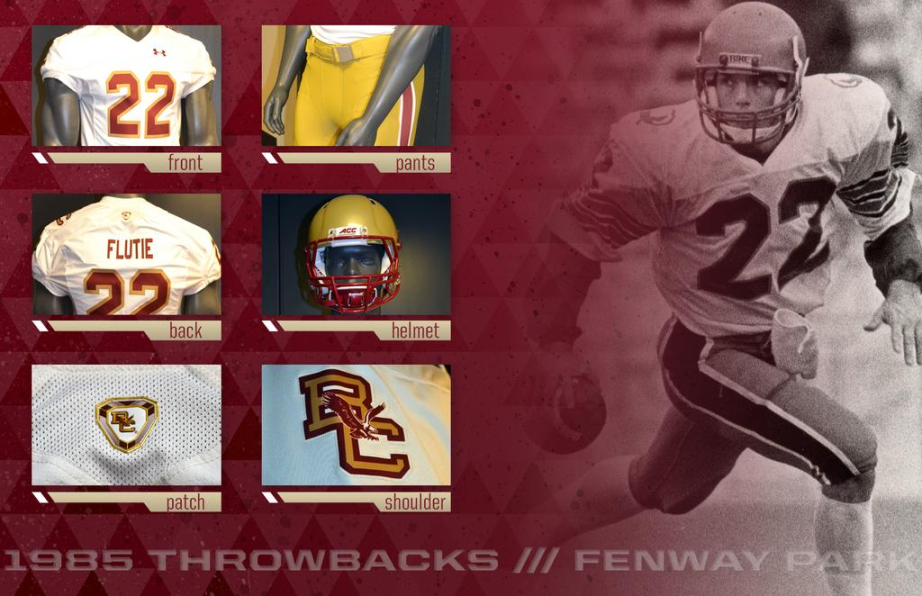 super cute ce17a b6f70 Boston College goes throwback for their 2015 Shamrock Series ...