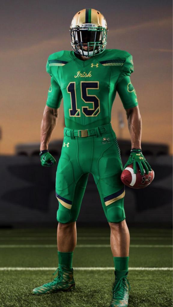 """b100b5b67 Notre Dame declares themselves the """"Green Monster"""" with 2015 ..."""