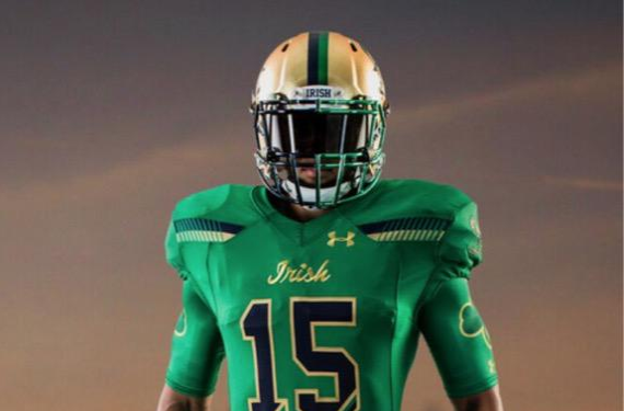 """Notre Dame declares themselves the """"Green Monster"""" with 2015 Shamrock Series uniform"""