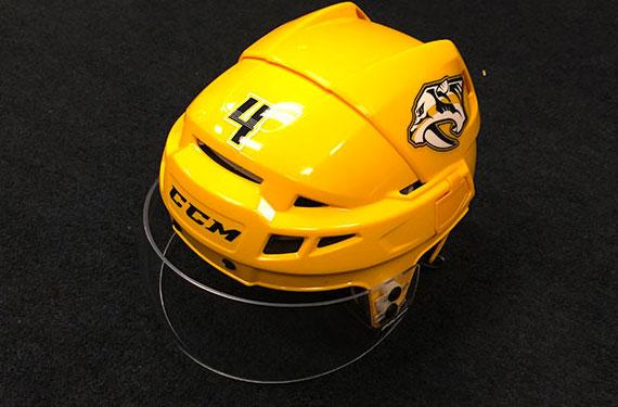 Predators Add Yellow Helmet to Home Uniform