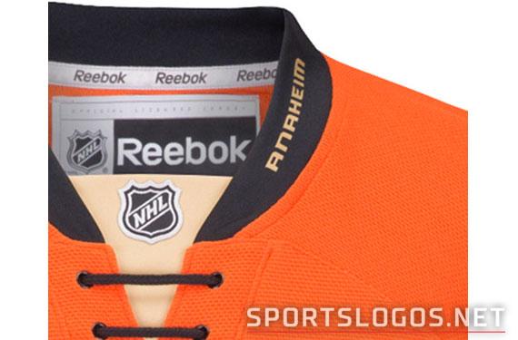 "The Ducks collar includes an ""Anaheim"" wordmark"