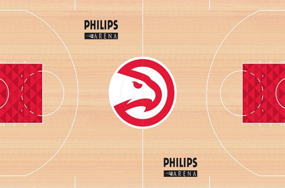 Atlanta Hawks go simple-but-unique with their new court