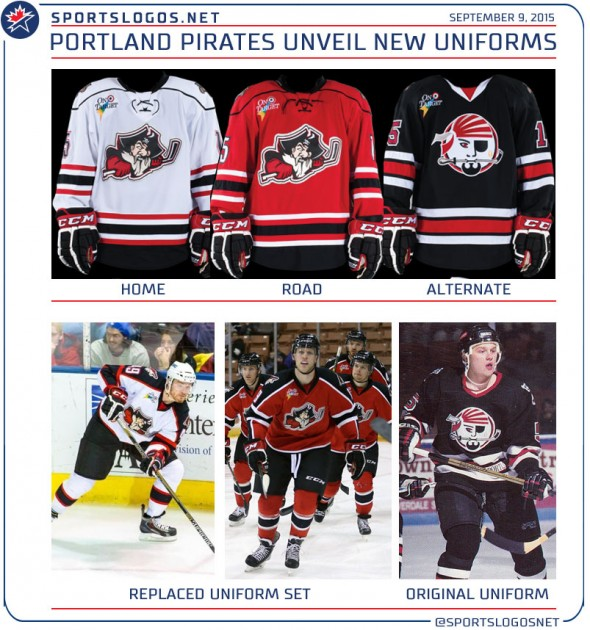 New Portland Pirates Uniforms