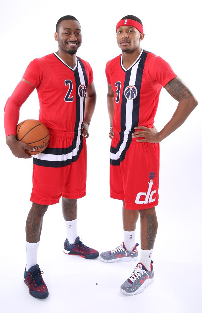 3418b24f02d6 Washington Wizards. Current Red Sleeved alternate