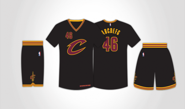 The Cavs will be wearing these alternates for tonight's game