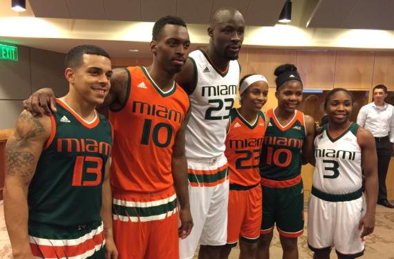 Adidas gives Miami basketball a weird waist stripe for their new uniforms