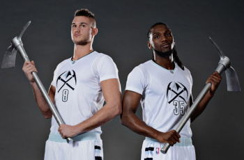 """6cb440a3556 Denver Nuggets attempt to strike """"WhiteGold"""" with new sleeved alternates"""