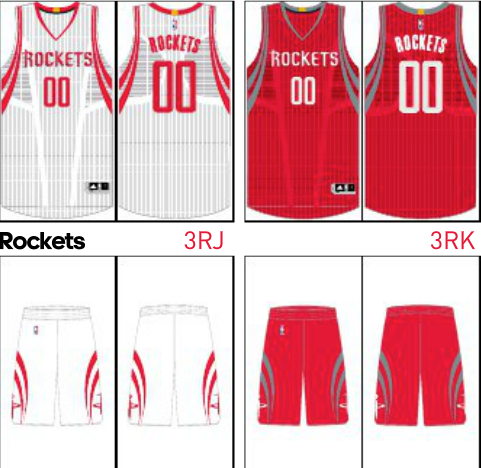 Rockets uniforms