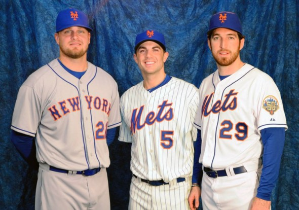 9de1c4397 ... of Queens as the Mets remove almost all traces of black from their  uniform. All black drop shadows are gone from the home white